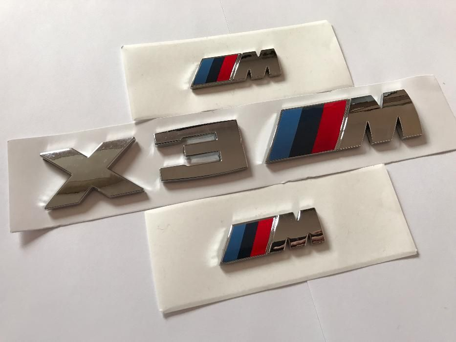 Set Emblema BMW X3M aripi/spate abs originale crom