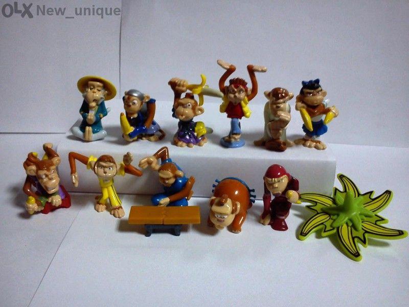 Киндер играчки от серията Шимпанзета банзай-воини (schim Banzai)