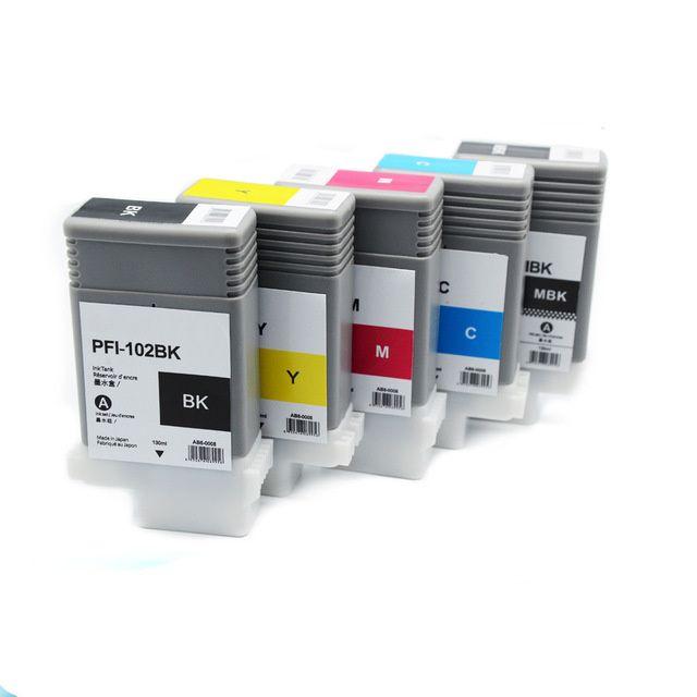 Cartuse compatibile Canon PFI-102 plotter IPF500 IPF610 IPF700 IPF750