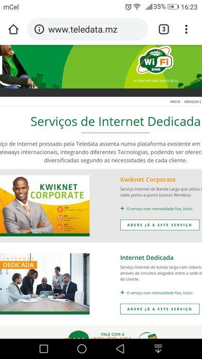 Internet — Teledata de Moçambique