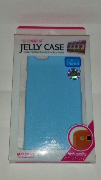 Husa silicon Jelly Case Mercury iPhone 6,6s albastra