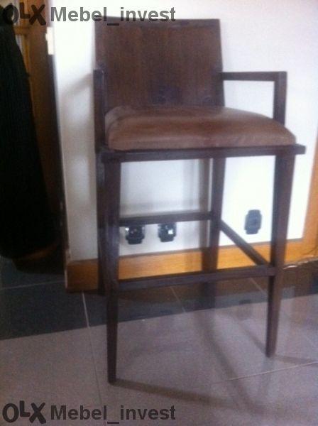 Бар стол от старо тиково дърв. ID 3097.