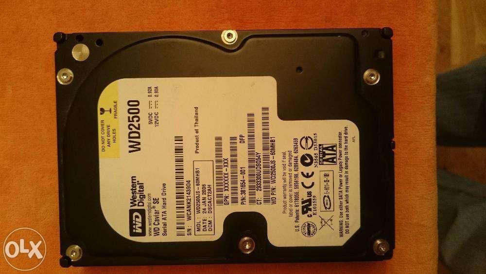 Hard Disk WD Western Digital 250GB - HDD Desktop 250GB WD2500