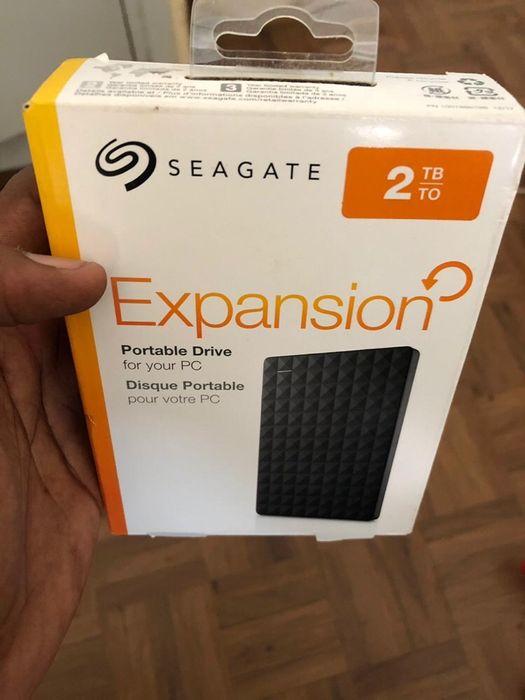 Disco externo Seagate 2TB na caixa selado a preço promocional