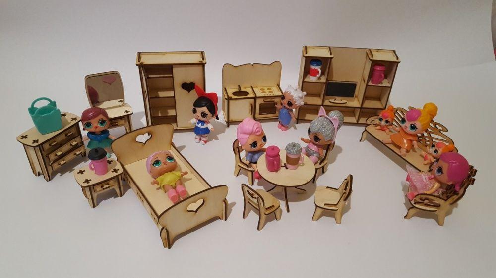 Набор мебели для кукол LOL (ЛОЛ) и Sylvanian Families (15 предметов)