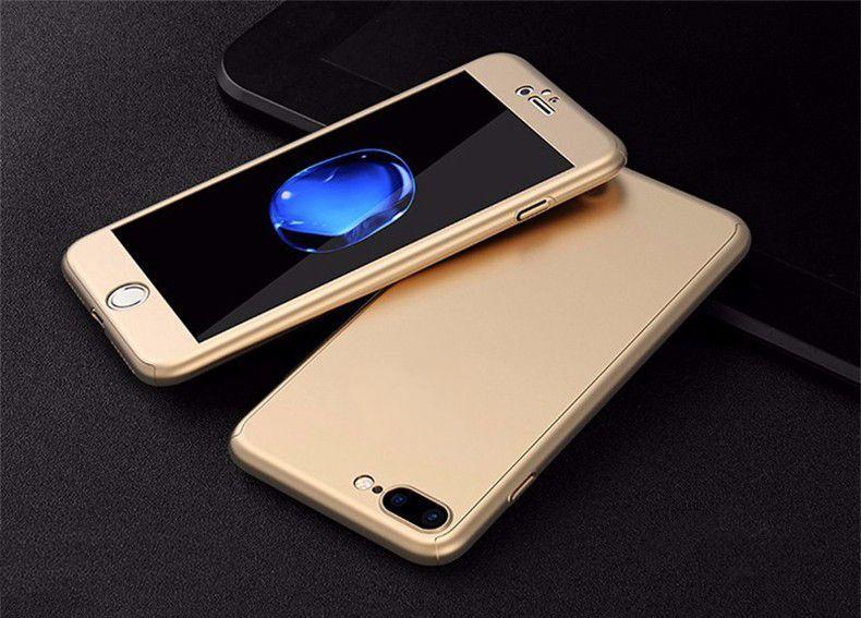 360 градуса мат калъф кейс за iPhone 7 Plus, 8 Plus, X, 10