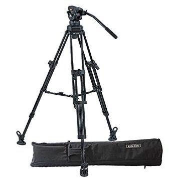 Trepied aluminiu E-Image EI-7060AA Kit, cap video 7060H , 190 cm