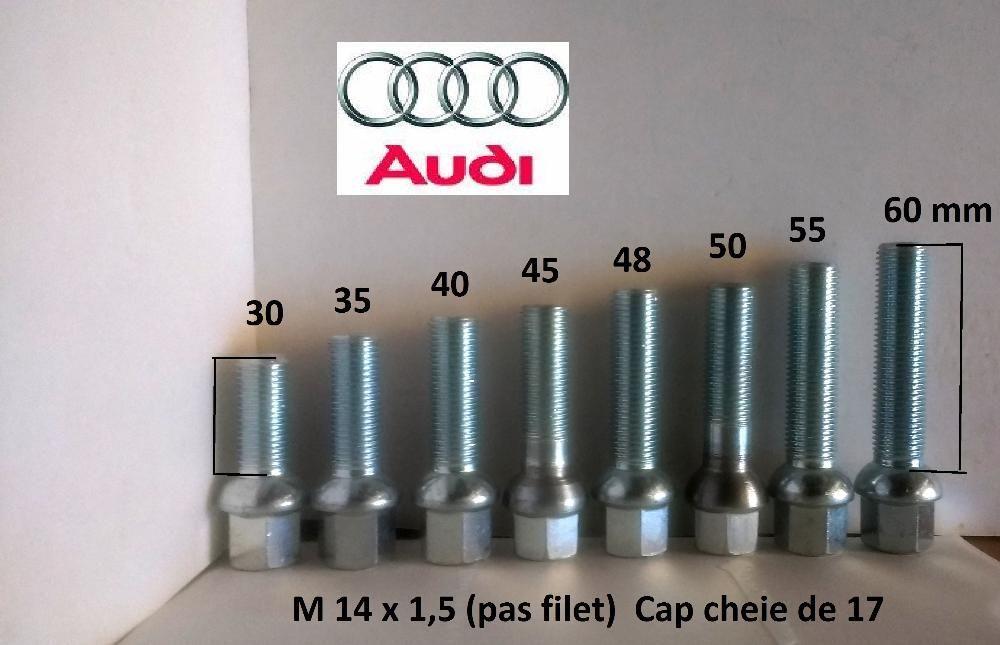 Prezoane lungi Audi pt jante aliaj 30 - 60 mm filet