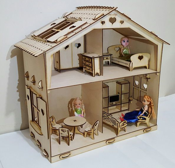 Кукольный домик 2х этажный. Дом для кукол LOL Surprise (ЛОЛ) и других