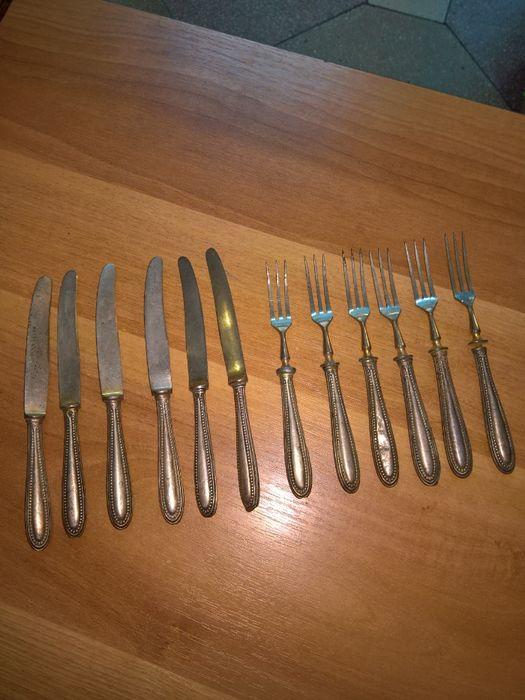 serviciu 6 furculite 6 cutite argint