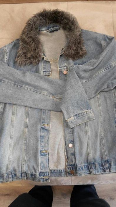 Дънкено дамско яке.