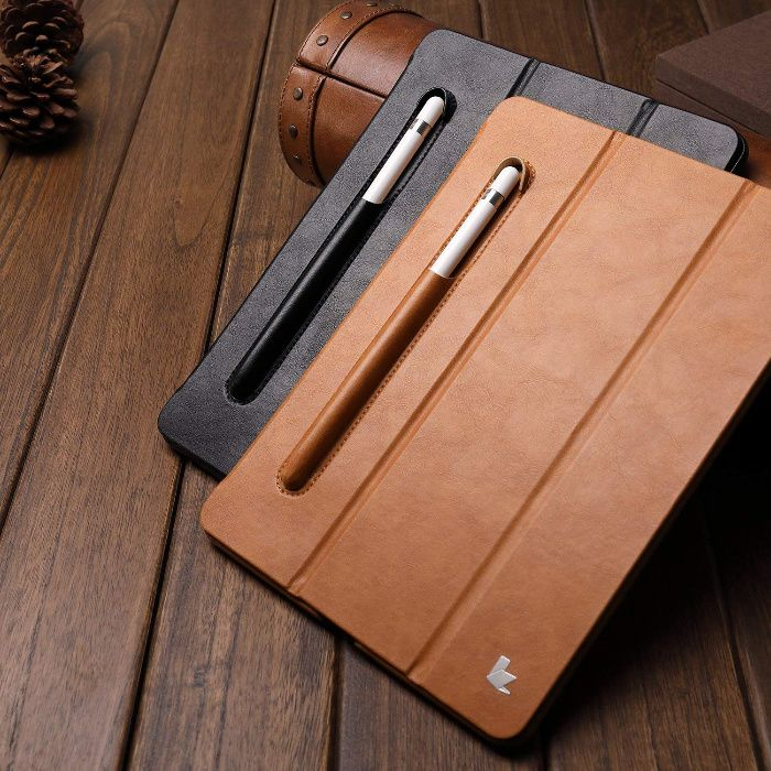 Husa piele fina, Jison Case, iPAD 6, 5, iPad 9.7, stand, suport stylus