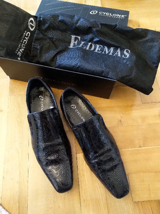 Pantofi barbatesti eleganti piele naturala Cyclone
