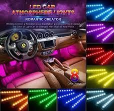 ИНТЕРИОРНО LED осветление диодни ленти за кола дистанционно светлини
