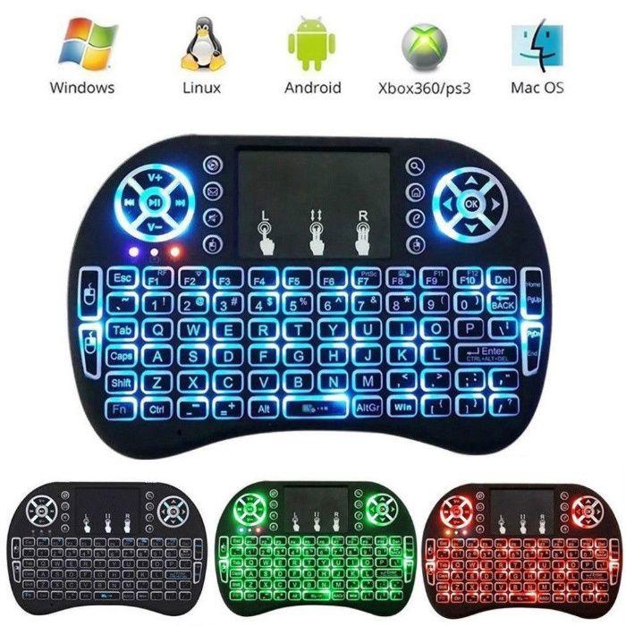 Tastatura wireless mini iluminata Android TV Box Noua