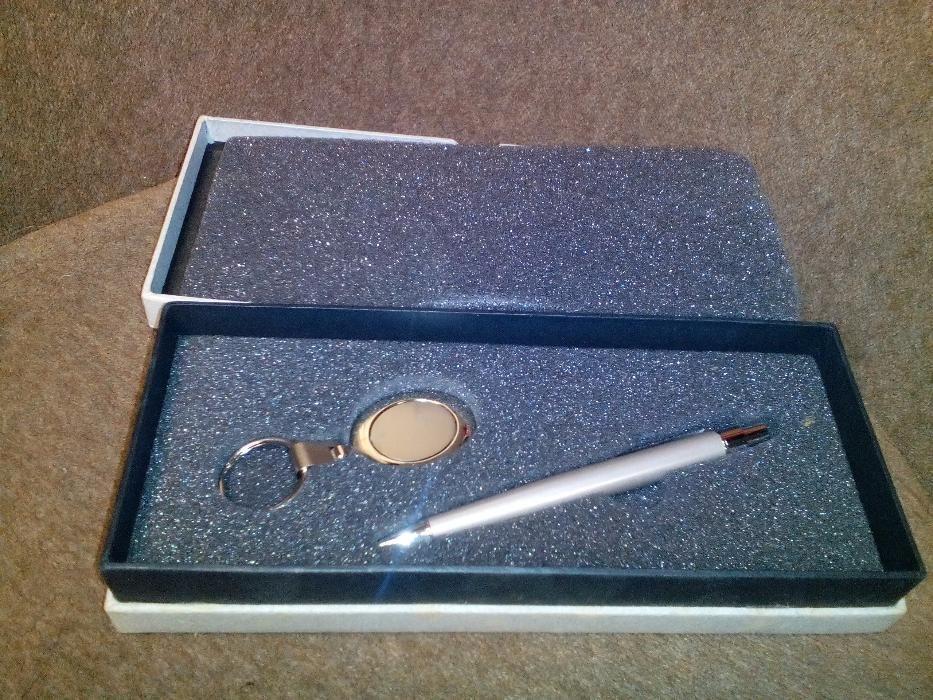химикал и ключодържател в кутия метални нов комплект