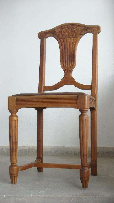 Scaun, vechi, lemn de nuc, mobila, veche