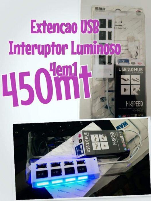 USb hub Lumisono com interuptor