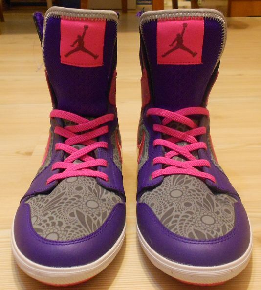 Ghete baschet Nike Air Jordan 1 Skinny High Purple/Raspberry Red/Pink
