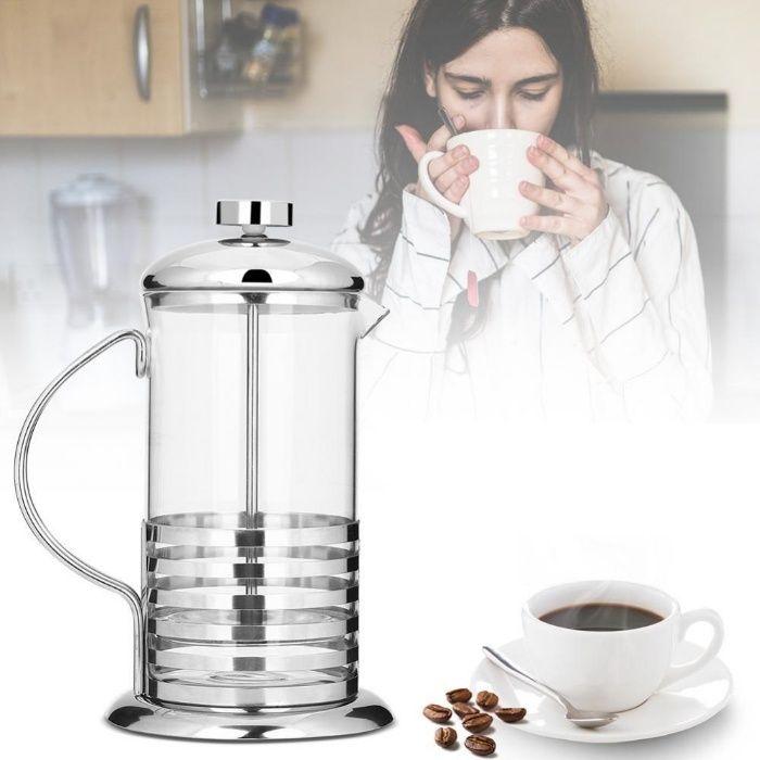 Фреснка преса за кафе 600мл - уред за бързо и лесно приготвяне на кафе