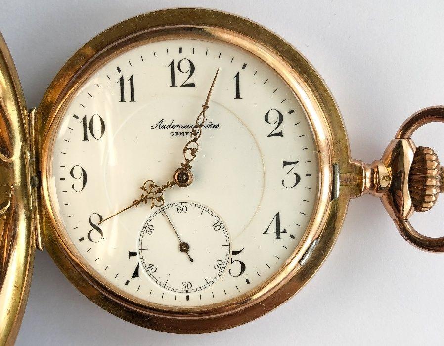 Ceas elvetian de buzunar din aur 14k Audemars Freres impecabil