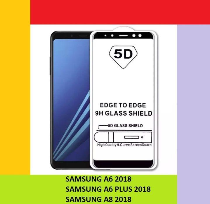 Folie sticla full adeziv Samsung A6 2018, A6 Plus 2018, A8 2018,galaxy Bucuresti - imagine 1