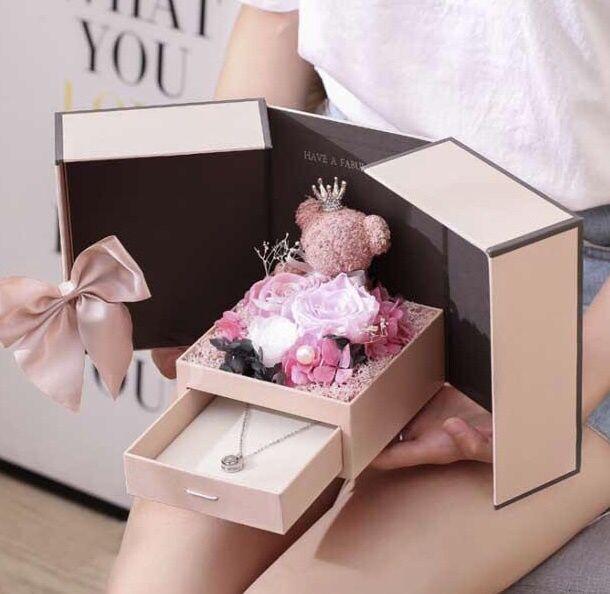 Мишка в подарочной коробочке