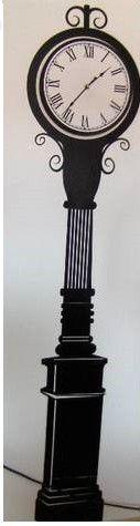 Ceas perete - AUTOCOLANT- Sticker -model ceas de podea cu baterie
