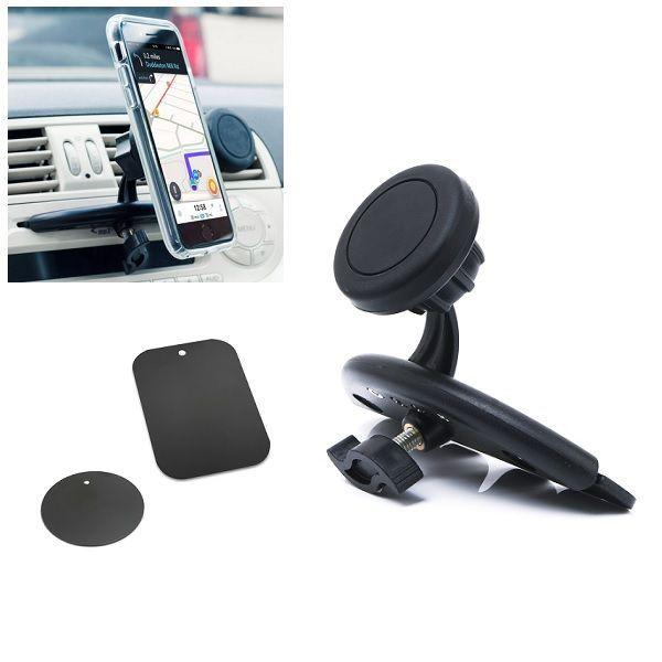 Suport magnetic de telefon pentru masina, cu prindere fanta CD-ului