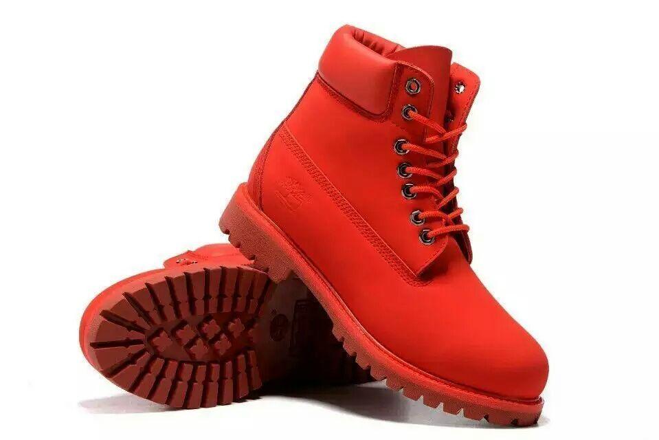 Botas timber vermelhas