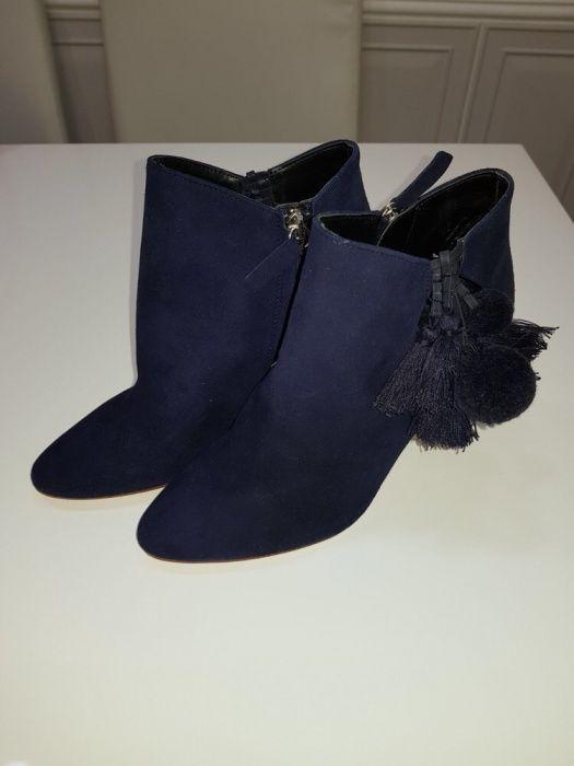 Botine / cizme / ghete noi din piele Zara