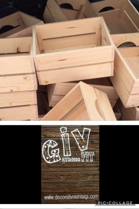 Декоративни дървени щайги