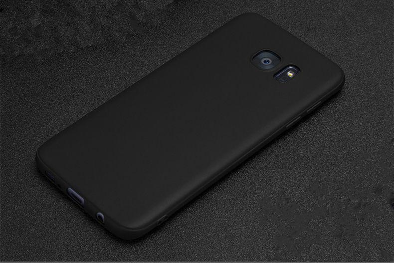 Husa Subtire 0.3mm Neagra Silicon Moale - Samsung Galaxy S7 S7 Edge