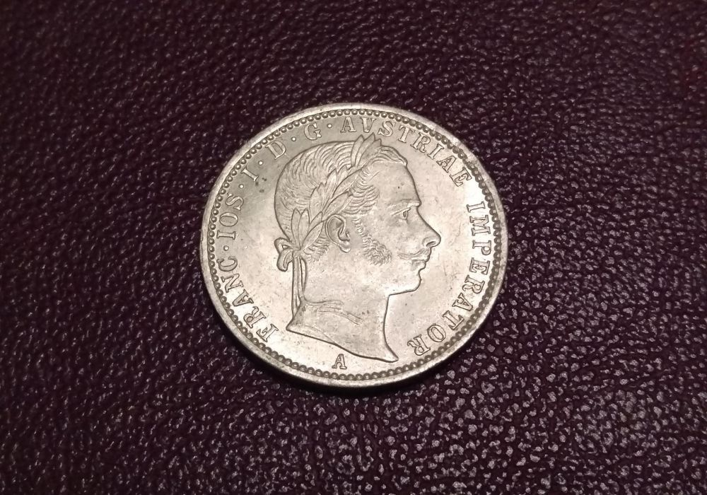 Vand moneda de argint 1/4 florin 1859
