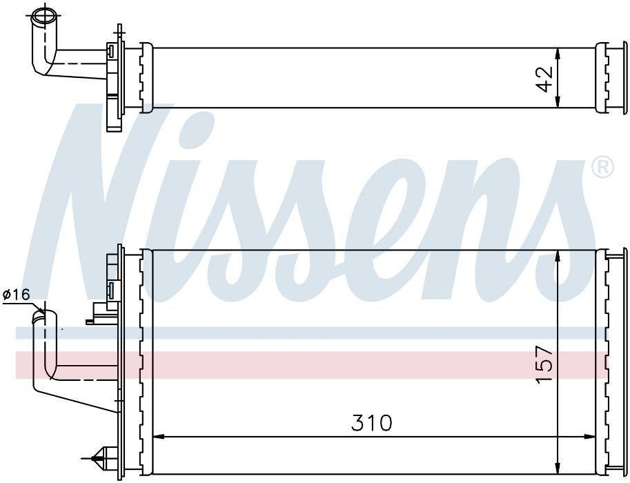 радиатор парно НОВО за IVECO DAILY ( 89'-99' )