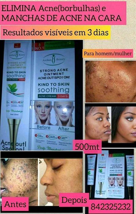 Elimina Acne(borbulhas) e manchas de acne,não clareia,Natural