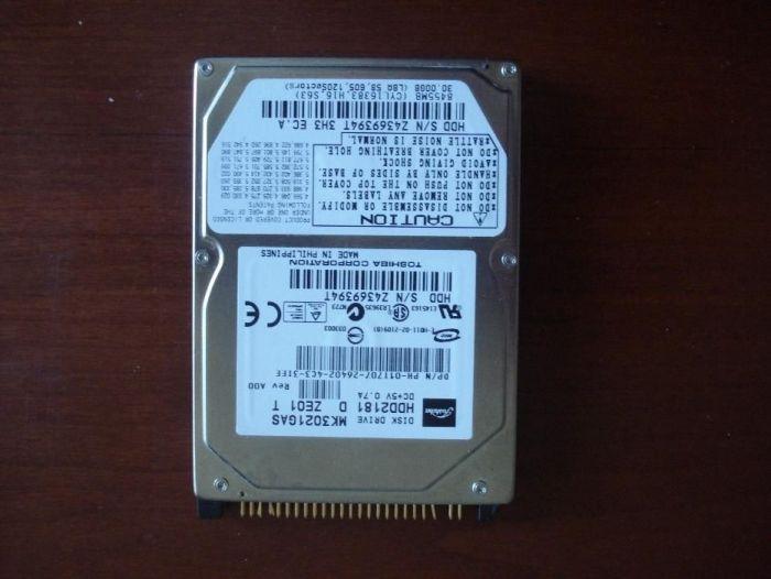 Disk Drive HDD2181, Toshiba Corp., MK3021GAS, 30 GB