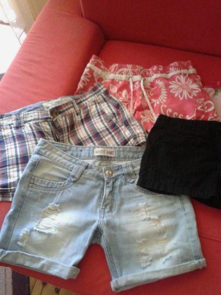 Лот от къси панталонки за 11-12г. госпожица-4бр.и подарък