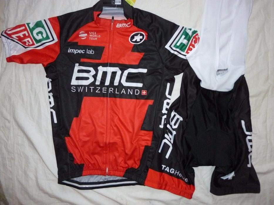 Echipament ciclism BMC 2017 set pantaloni tricou Costum cu bretele NOU