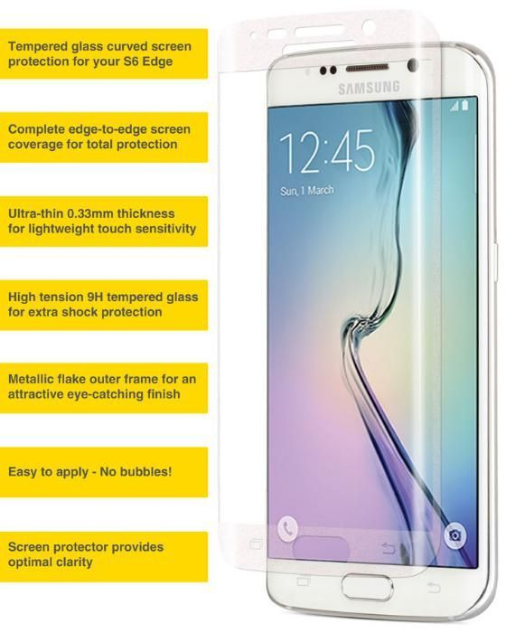 Стъклен протектор за Samsung Galaxy S6 Edge G925 S7 Edge G935 FullFace