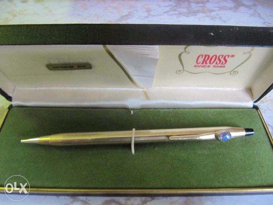 vintage creion 0,9mm cross since 1846 placat aur 10k si smaralde
