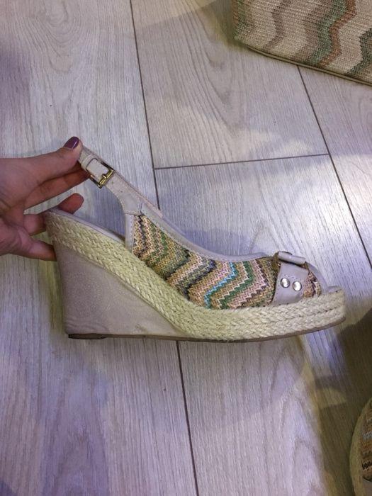 Дамски обувки платформи и чанта