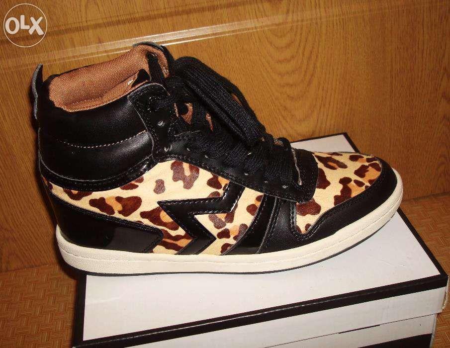 Sneakers platforme animal print