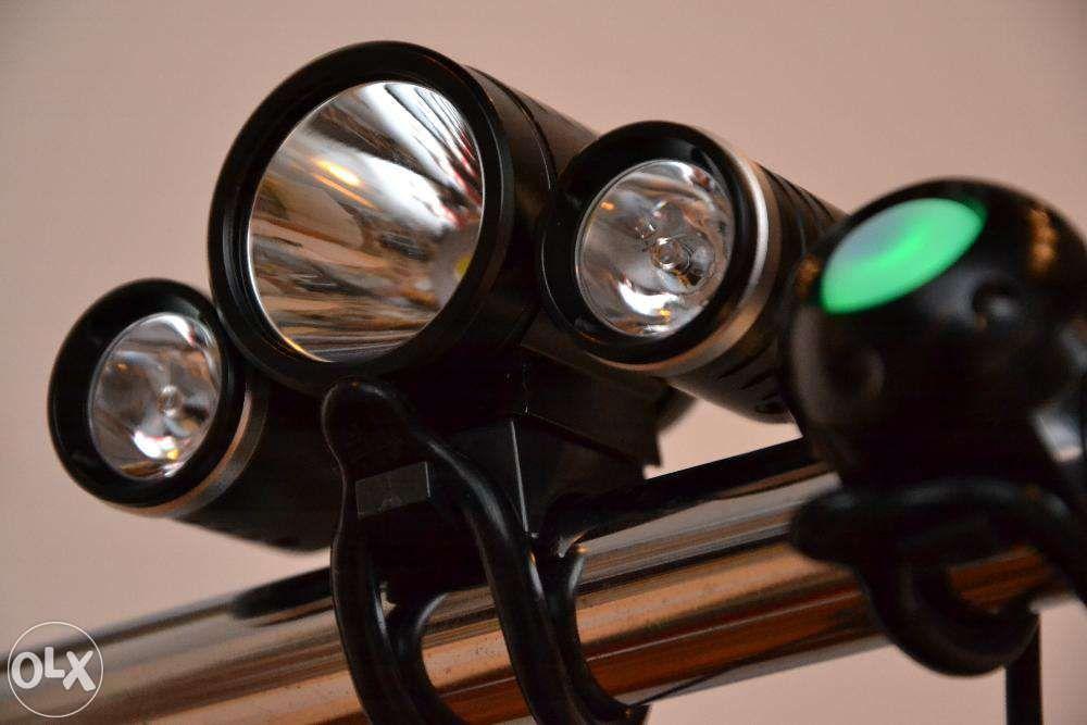 Far lanterna bicicleta CREE XM L T6 3 led 3800lumeni cu buton comanda