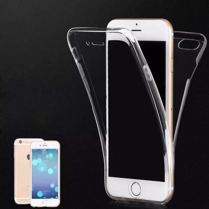 Силиконов 360° градуса кейс за Iphone 5 / 5S / SE / 6 6S 7 / 7+ 8 X 10