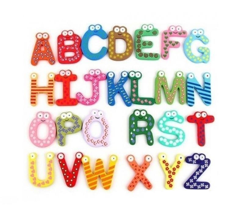 Cifre / Litere magnetice lemn - Jucarii Montessori