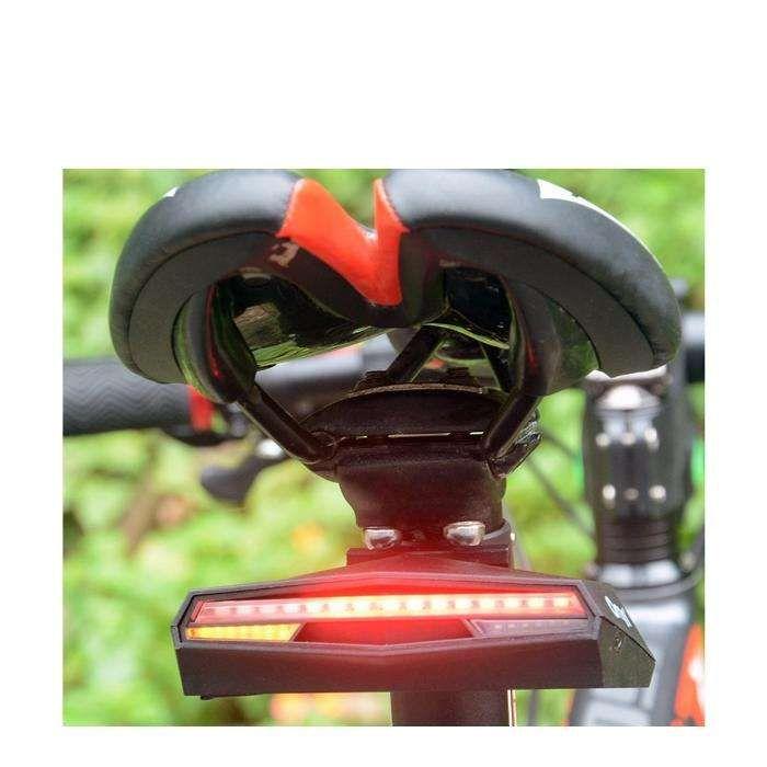 Lumini bicicleta semnalizare stop wireless cu incarcare USB