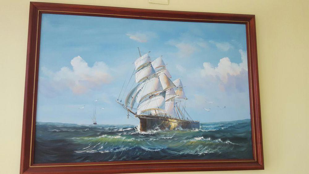 Картина кораб