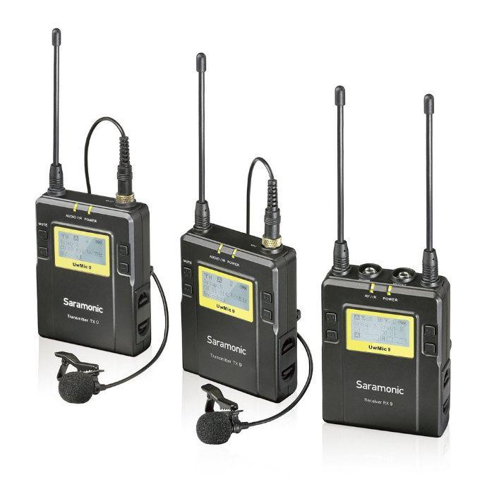 Kit Lavaliera dubla Saramonic UWMIC10 (RX9+ TX9+ TX9) nu Sony UWP-D11