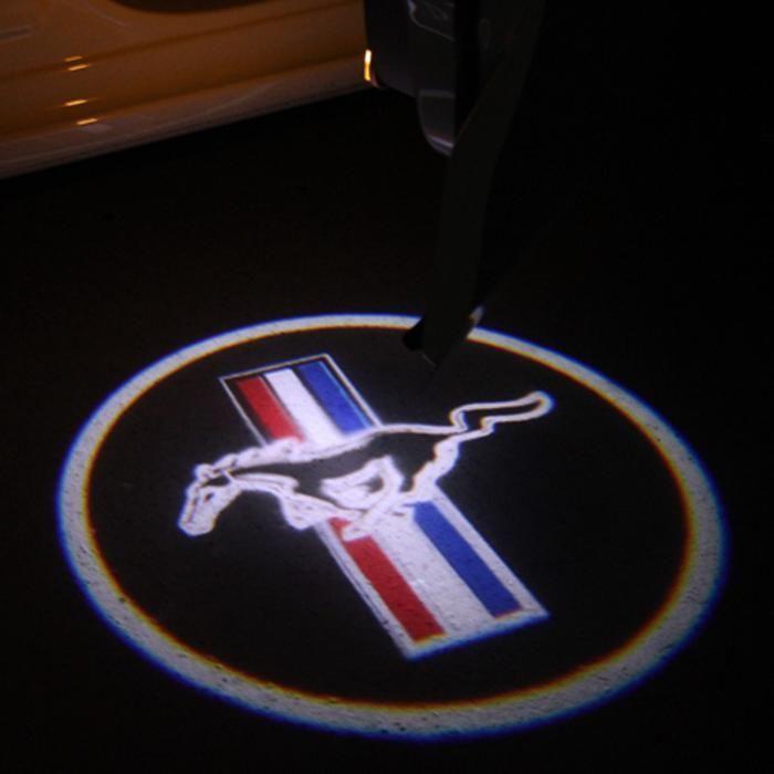 Proiector laser cu logo/marca Mustang pentru iluminat sub usa